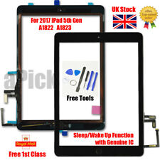 More details for for 2017 ipad 5th gen a1822 a1823 touch screen digitizer replacement + ic black