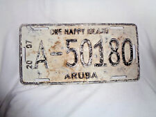 ARUBA License Plate 2007 One Happy Island A-50180 Authentic Dutch Caribbean
