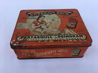 Vintage India collectable Dilranjan balm advertisement litho tin box HOME DECOR