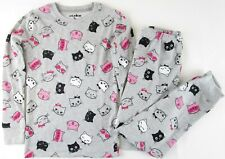 NWOT Joe Boxer Kids 2 Pc. Gray Kitty Cat Pajamas Pajama Set, Size 8