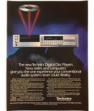 Original 1984 TECHNICS Digital Disc Players Advertisement Color Vintage Print Ad