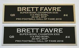 Brett Favre nameplate for signed jersey football helmet or photo