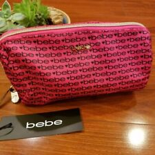 NWT ebe Pink with bebe logo design makeup bag