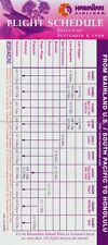 Hawaiian Airlines Transpacific Timetable  September 8, 1998 =