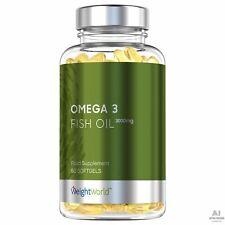 60 Gélules OMEGA 3 FISH OIL Huile de Poisson Complément Alimentaire Cerveau