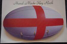 England Rugby Bola hecho a mano de madera novedad clave rack hecho en el Reino Unido