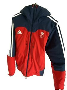 Team GB Adidas Olympic Ski Jacket SMALL Red - RARE - Used Once - Great Britain
