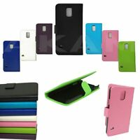 PU Leather Book Wallet Flip Case Cover For Samsung Galaxy S5 I9600 S5Mini