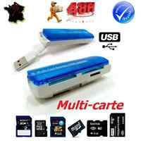 LECTEUR READER ADAPTATEUR USB MULTI CARTE MEMOIRE SD/SDHC/MMC/TFLASH/MICRO SD/MS