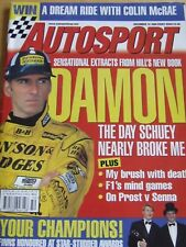 AUTOSPORT MAGAZINE DEC 1998 DAMON HILL BOOK FINNS HONOURED STAR-STUDDED AWARDS