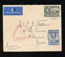 GOLD COAST KOFORIDUA 1940 WW2 CENSOR No.12...AIRMAIL to RICHMOND YORKS GB 1s 3d
