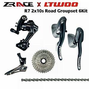 LTWOO R7 2x10 speed 20s Road group set/Cassette+Chain+Shifter+Rear Derailleur+FD