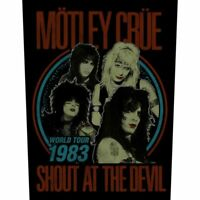 "MOTLEY CRUE - ""SHOUT AT THE DEVIL"" - LARGE SIZE - SEW ON BACK PATCH"