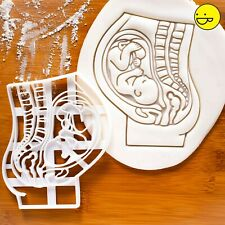 Pregnant Womb with Fetus cookie cutter |biscuit gift pregnancy announcement baby