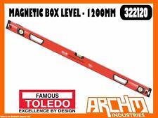 TOLEDO 322120 - MAGNETIC BOX LEVEL - 1200MM - ACCURATE V-GROOVE ALUMINIUM FRAME