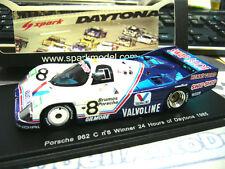 PORSCHE 962 C 24h Daytona 1985 Winner Valvoline #8 Wollek Boutsen Spark 1:43