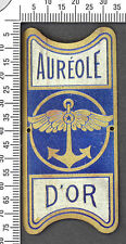 Plaque de vélo ancienne AURÉOLE D'OR. Laiton