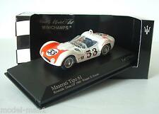 Minichamps 1/43 Maserati Tipo 61 Birdcage Riverside Times GP 1960 #53 Krause