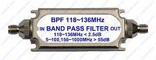 SMA connector bandpass filter BPF 118-136MHz for Air band