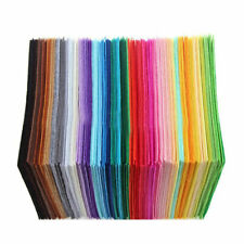 40pc 15X15cm Soft Felt Fabric Square Sheet Assorted Color for Diy Crafts #D