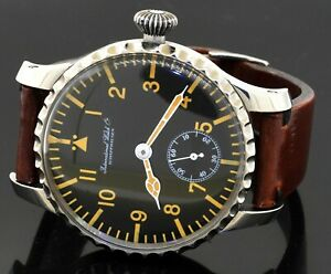 IWC International Watch Co Schaffhausen SS large 48mm manual winding men's watch