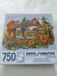 Bits and Pieces Autumn Retreat 750 Piece Shaped Jigsaw Puzzle by Cory Carlson