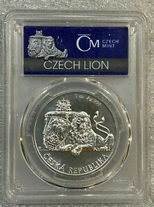 2017 Niue 1 oz Silver Czech Lion 999 Coin PCGS MS70 1st in Series mintage 15,000