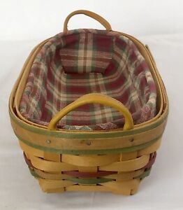 "Longaberger 2000 Century Celebration Basket Leather  Handles 15"". (L2)"