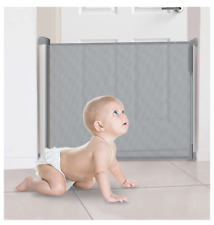 Callowesse DELUXE SCALA RETRATTILE IN ALLUMINIO/Baby/Pet Gate 0 – 110cm – Grigio