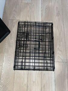 "Black Metal Folding ""24""Pet Crate, Dog Cage."