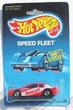 Hot Wheels THUNDERBIRD STOCKER Red 1988 Speed Fleet Vintage MOSC BP Prenumbered