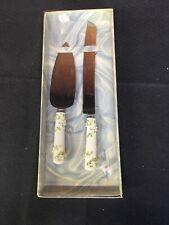 Treasure Masters White Rose Wedding Knife Set