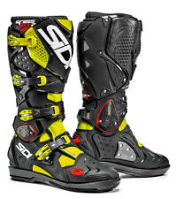SIDI Crossfire 2 SRS Yellow Fluo Black 2016 Motocross BOOTS Many Sizes 46
