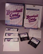 Baseball Card Collector Computer Statistics MS DOS 3.5  5.25 MLB 1991 MIB Konami