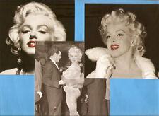 Marylin MONROE lot de 3 grandes cartes postales 14 x14 cms NB  superbes