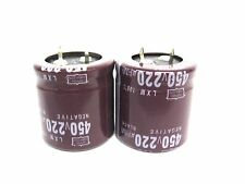 220uf 450v 2x Electrolytic Capacitors 450v 220uf Volume 30x30 Mm