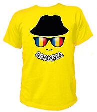 T-Shirt FAN SKULL FLAG Romania Rumänien Bukarest București Fußball Soccer