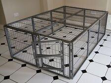 Margothedog Puppy Exercise Pen Modular Dog Cage 15 panels & 1 door