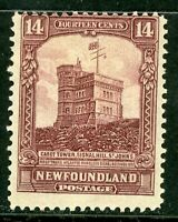 Canada 1928 Newfoundland 14¢ Cabot Tower Scott #155 Mint Z883