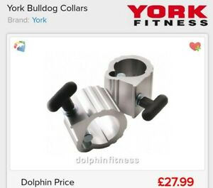 York Fitness Bulldog Collars (Pair) For Olympic Weightlifting, no box