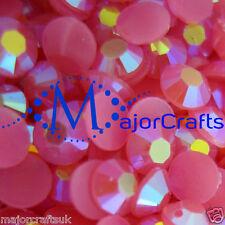 1000pcs Hot Pink AB 5mm ss20 Flat Back Resin Rhinestones Diamante Craft Gems C49