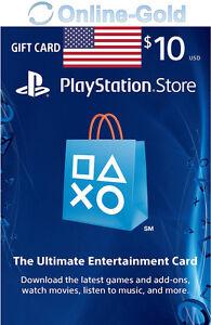 PSN Gift Card $10 USD - 10 Dollar Playstation Network US Key PS3/4 Guthaben Code