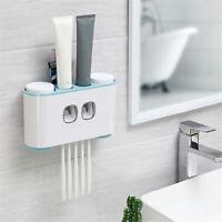 Distributeur Automatique de Dentifrice Porte-brosse à Dent Wall Mount   +A