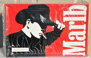 Vintage Marlboro Man Cowboy Cigarettes Metal Display Sign Red NOS 1997 Old VTG