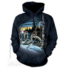The Mountain Unisex Adult Find 13 Wolves Animal Hoodie Small 7234490