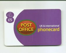UK Phonecard - POST OFFICE  5 pounds - early 2000s - USED / NO AIRTIME
