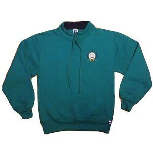 Vintage 90s Long Beach Island  Russell Athletic sweatshirt M teal drawstring LBI