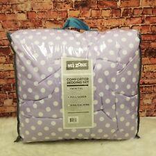 Mi-Zone Polyester Full/Queen Reversible Ella Polka Dot Comforter Set White
