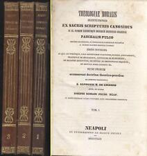 THEOLOGIAE MORALIS INSTITUTIONES 1844 Paschalis Fulco 3 voll. su 4