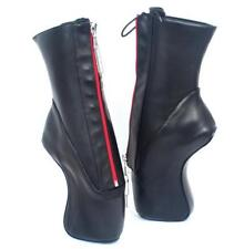 Womens Sexy Super High Heel Sole Sexy Lockable Zipper Midcalf Ballet Boots Shoes